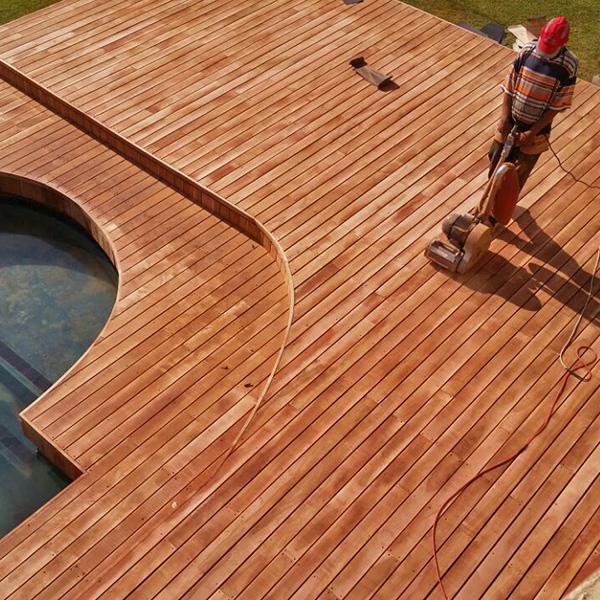 Treating & laying custom solid wooden flooring, Best tailor made wooden pool or patio decks in Gauteng, Wooden decks flooring balconies patios implementations, wooden deck, custom made decks, sundecks, patio, swimming pool patio